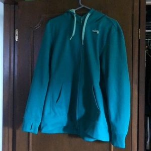 Women's north face sweatshirt, full zip
